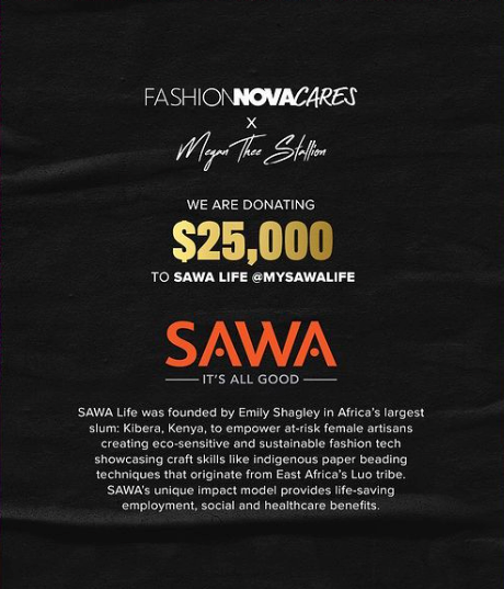 SAWA Featured on @fashionnovacares