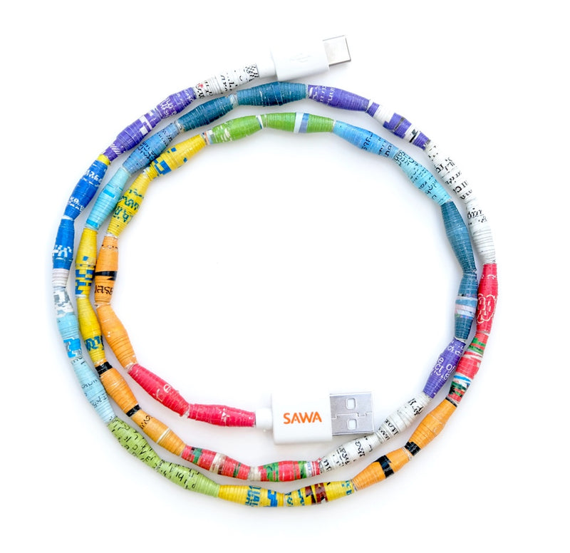 Multicolor (Android) USB to USB-C Type Cable (3 Feet)
