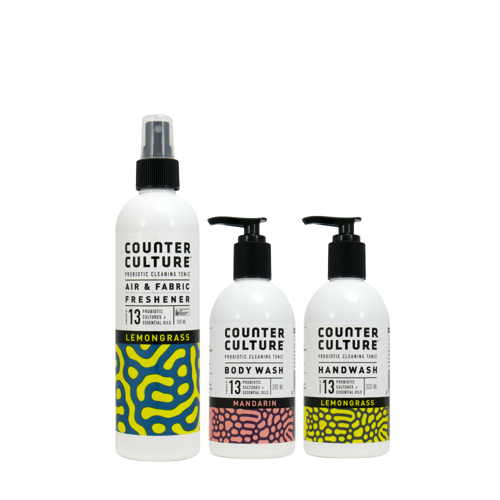 Lemongrass Bonza Bathroom by Counter Culture Clean