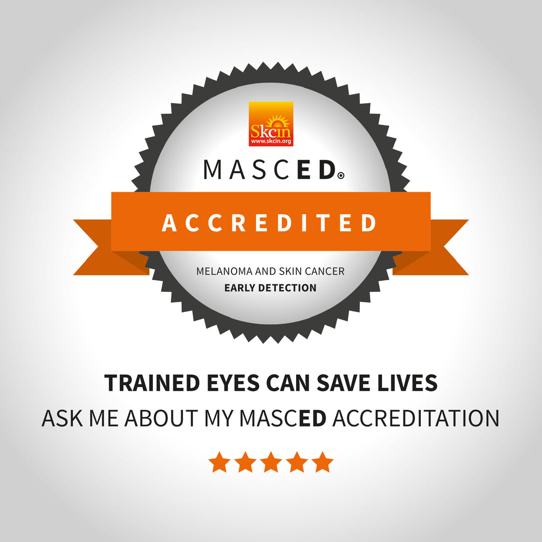 MASCED Accredited Window Sticker