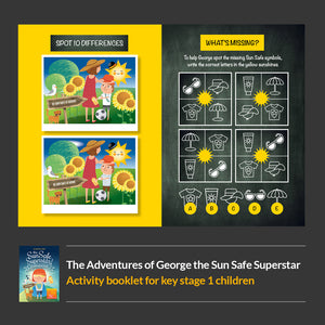 George the Sun Safe Superstar - Rhyming Story Book & Activity Book