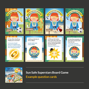 Sun Safe Superstars Board Game