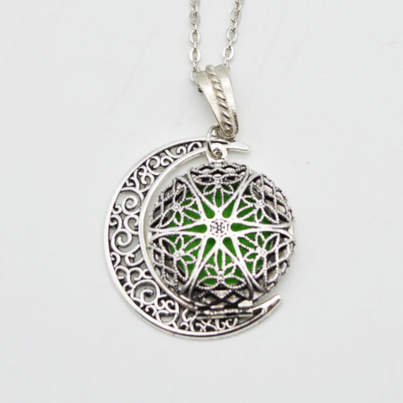 Filigree Essential Oil Diffuser Locket Pendant With Charm-Caravan Stash