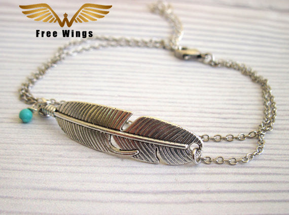 Fun Feather Anklet-Caravan Stash