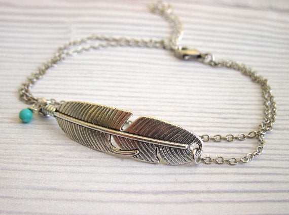 Fun Feather Anklet