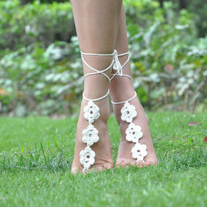 Crocheted Ankle Bracelet Barefoot Sandals