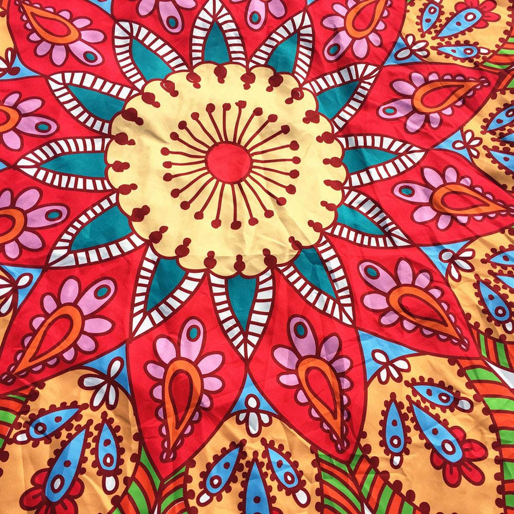 Colorful Round Mandala Tapestry Throw-Caravan Stash