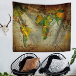 Vintage World Map Tapestry-Caravan Stash