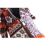 Paisley Patchwork Zippered Hobo Handbag