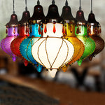 Exotic Mediterranean Sea Glass Pendant Lamp-Caravan Stash