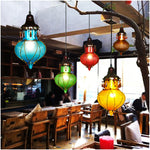 Turkish Mediterranean Moroccan Glass Pendant Lamp