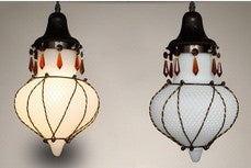 milk Glass Mediterranean Moroccan Glass Lamp