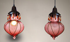 Mediterranean Sea Moroccan Glass Lamp