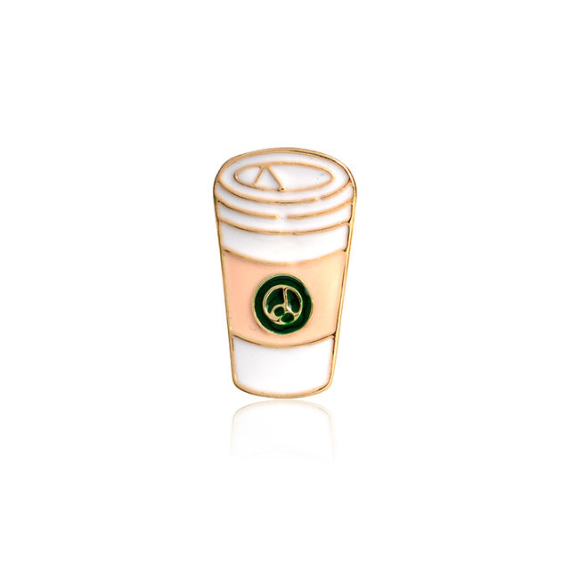 Mocha Coffee Cup Enamel Pin-Caravan Stash