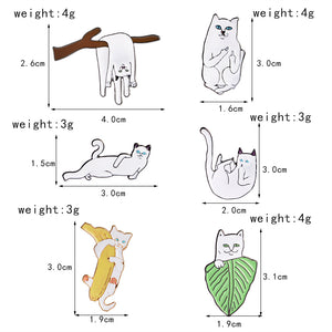 Pure Catitude 6 Piece Enamel Pin Set