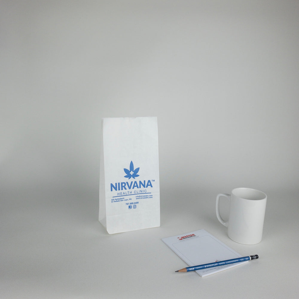 White Paper Grocery Bags (Custom Printed)