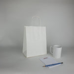 White Kraft Paper Shopping Bags (Plain)