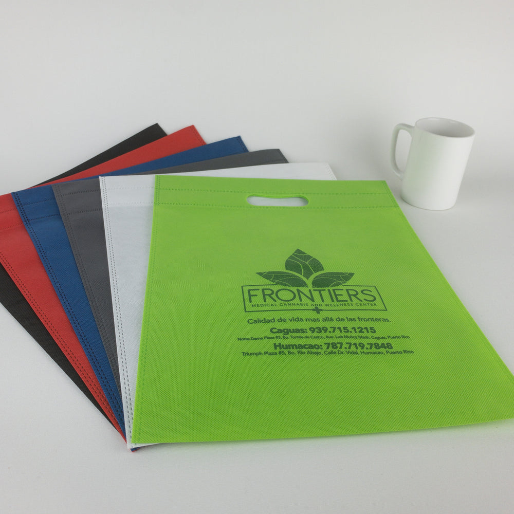 Reusable Flat Bags with Die Cut Handle (Custom Printed)