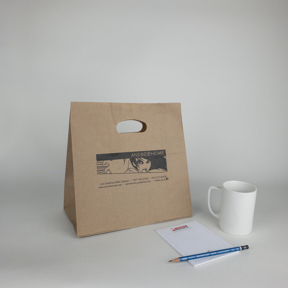 Kraft Paper Bags with Die Cut Handles (Custom Printed)