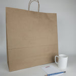 Jumbo Kraft Paper Shopping Bags (Plain)