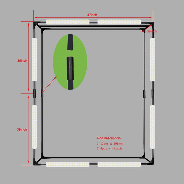 Glo3D X Large Portable Photo Studio Lightbox & Light tent