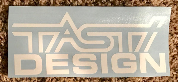 "8"" TASTI Design White Decal"