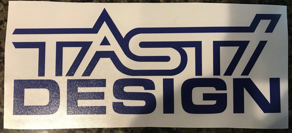 "8"" TASTI Design Blue Decal"
