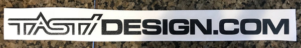 "12"" TastiDesign.com Black Decal"