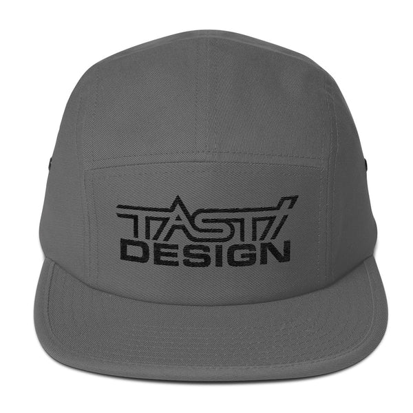 TASTI Design Five Panel Hat (Black Logo)
