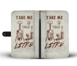 Awesome Wine Phone Wallet Case