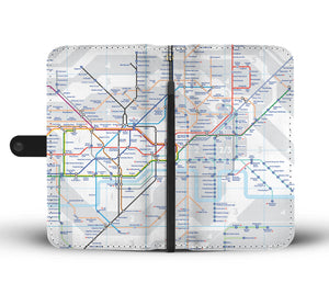Awesome London Tube Phone Wallet Case