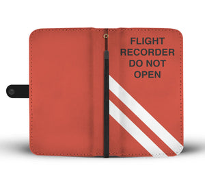 Awesome Black Box Flight Recorder Phone Wallet Case