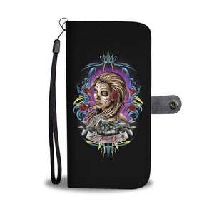 V-Twin Beauty Lady Rider Phone Wallet Case