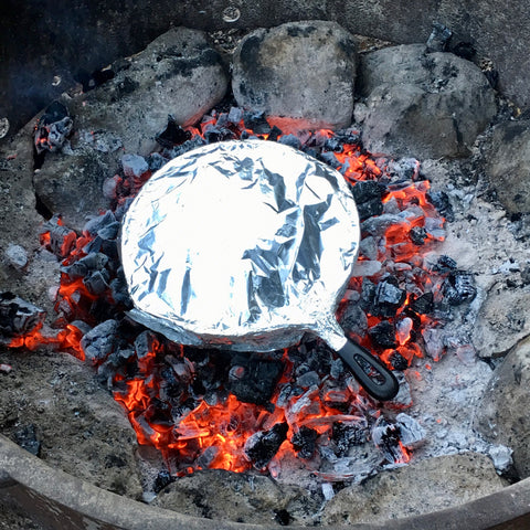 Cast Iron Cooking Over Coals