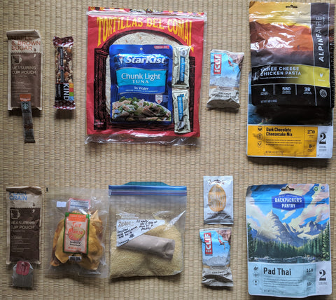 Backpacking 2 Day meal kit