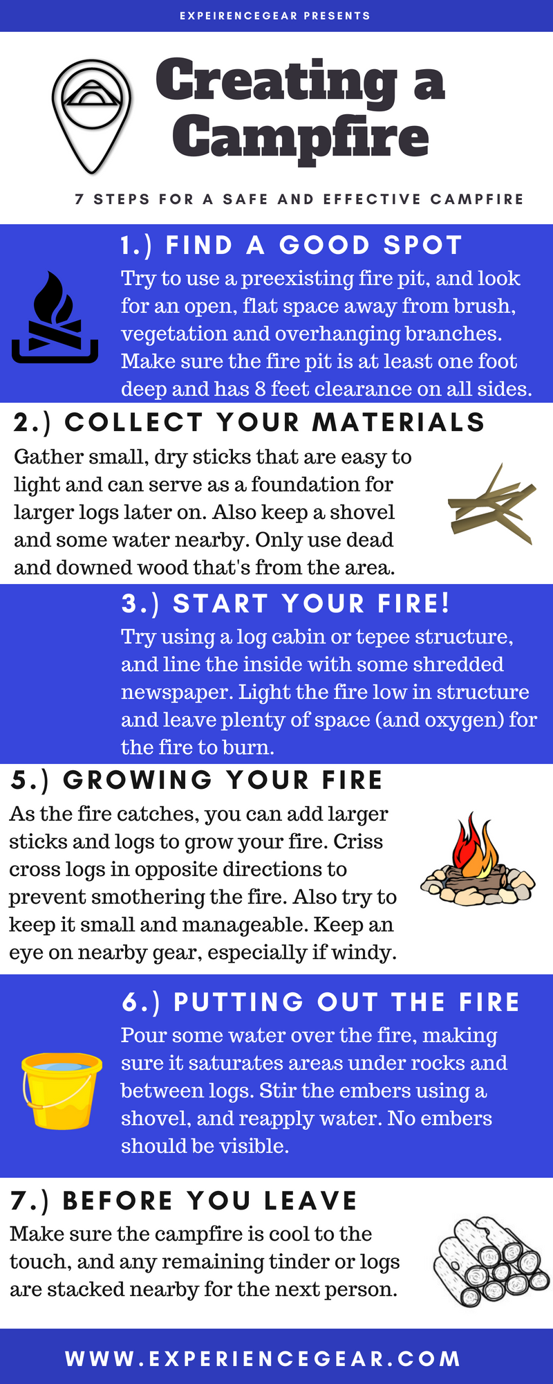 Campfire Guidelines; How to Create a Campfire; Campfire Safety