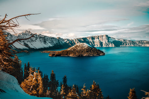 Crater Lake in Crater Lake National Park Oregon
