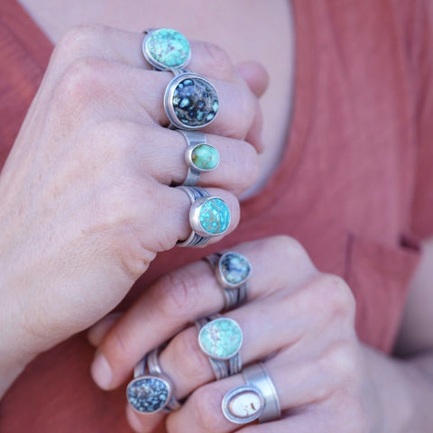 Turquoise rings for days
