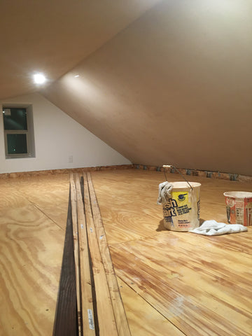 Plywood loft floor