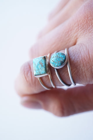 open band turquoise rings
