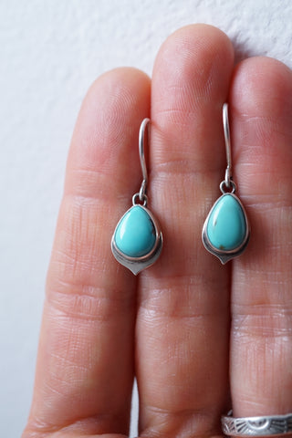 dainty turquoise dangle earrings