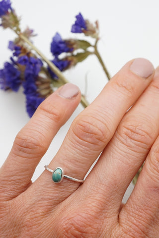 dainty turquoise stacking ring