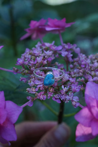 dainty stacking turquoise ring