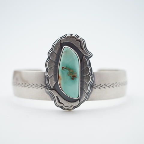 cheyenne turquoise floral layered cuff