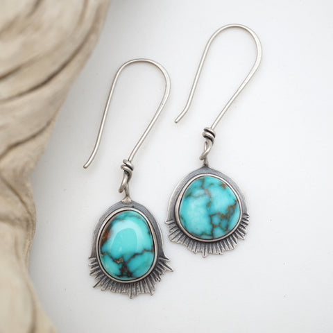 sierra nevada turquoise dangle earrings