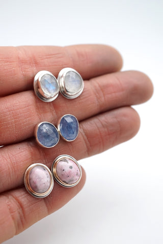 handful of stud earrings