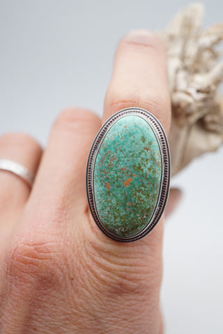 Green carico lake turquoise statement ring