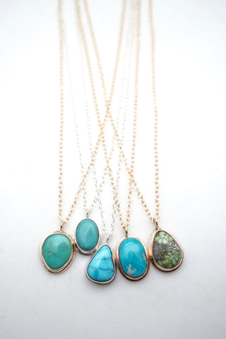 dainty turquoise necklaces