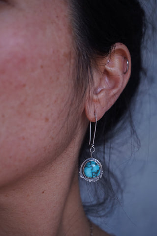 sierra nevada turquoise dangle earring