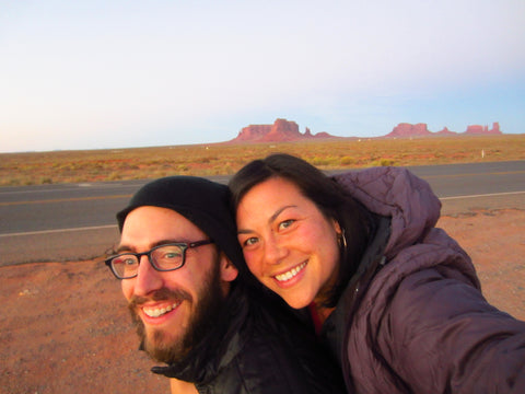 cutie and cita in monument valley